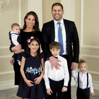 Honorees Taly and Eyal Reggev and family.