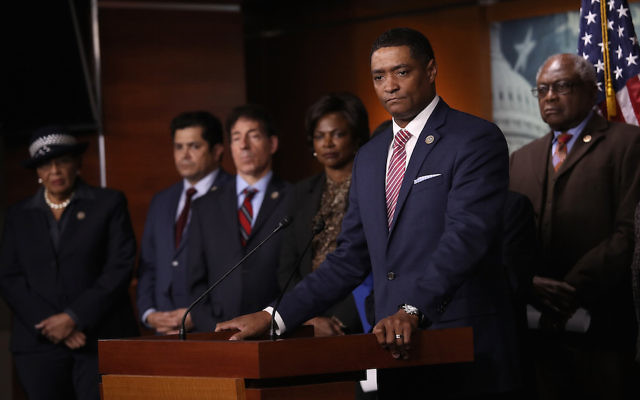 Congressional Black Caucus Chairman Cedric Richmond speaking at a press conference with members of the caucus and members of the House Judiciary Committee at the U.S. Capitol, Jan. 18, 2018. (Win McNamee/Getty Images)