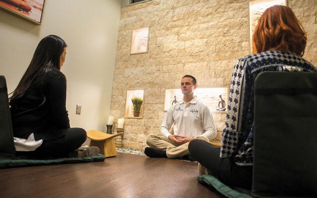 A meditation program at the hospital's Graf Center for Integrative Medicine. (EHMC)