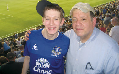 In 2011, Rabbi Glickman and his youngest child, Oren, went to a soccer game.