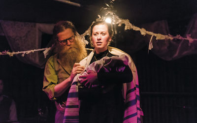 """Ben Caplan as Ben and Mary Fay Coady as Chaya in """"Old Stock."""" (Stoo Metz Photography)"""