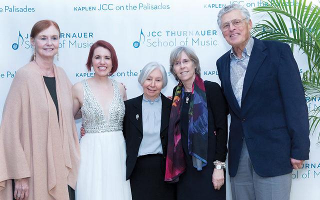Joan Handler, Naomi Louisa O'Connell, Dorothy Kaplan Roffman, Tracey Blumberg, and Alan Handler. (Courtesy JCCOTP)