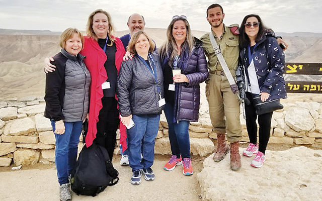 Judith Jaffe, left, director of congregational learning at Shomrei Torah Conservative Congregation in Wayne, and Grace Gurman-Chan, educational director at the United Synagogue of Hoboken, next to her, were among the participants at conference in Israel. (Photo provided)