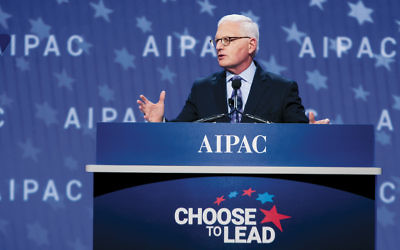AIPAC's executive director, Howard Kohr, speaks to the Israel lobby's policy conference in Washington, D.C., on March 4. (AIPAC)