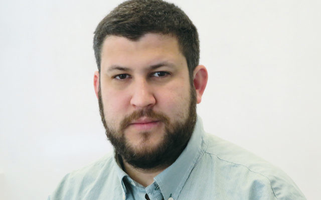 David Smolansky, a leader in exile of Venezuela's opposition, is in Washington, D.C., on March 12, 2018. (Ron Kampeas)
