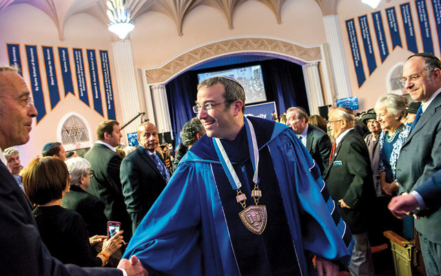 Rabbi Ari Berman is inaugurated as president of Yeshiva University in June 2017.