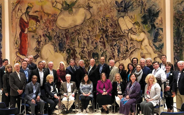 The 2018 New Jersey Legislators Study Mission group is at the Knesset. (Photos courtesy N.J. State Association of Jewish Federations)