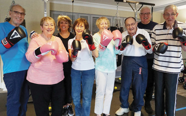 Parkinson's patients ready to box.