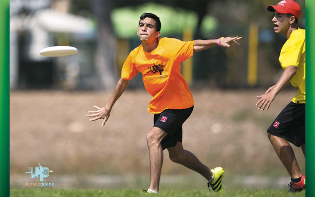 The competition is fierce but friendly among Israeli and Arab competitors in ultimate Frisbee.