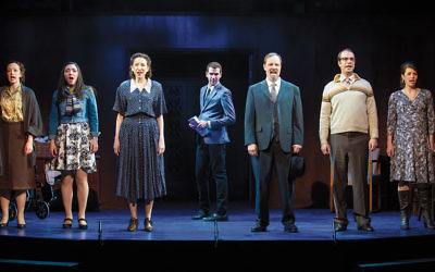 """The full cast of """"Goldstein,"""" now playing in the Actors Temple Theater in Manhattan"""