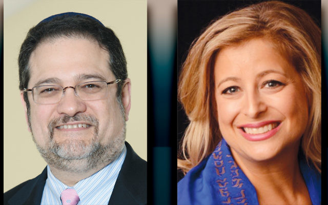 Rabbi Jordan Millstein, left, and Rabbi Beth  Kramer-Mazer (Robert Lieberman)