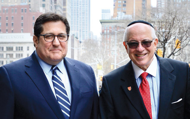 Steven Rothman, left, and Touro dean Dr. Steven  Huberman (Courtesy Touro)