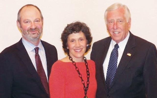 Nathan and Shari Lindenbaum with Congressman Steny Hoyer (Courtesy Norpac)