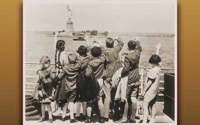 Children arriving in New York Harbor. (U.S. Holocaust Memorial Museum — Courtesy Anita Willens)
