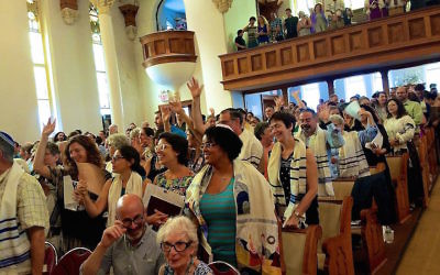 A view of Congregation Kolot Chayeinu in Brooklyn, New York. (Courtesy of Congregation Kolot Chayeinu)