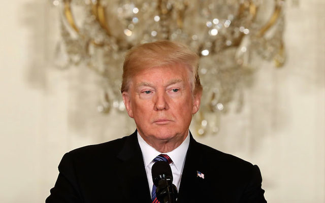 President Donald Trump at a news conference in the East Room of the White House, April 3, 2018. (Chip Somodevilla/Getty Images)