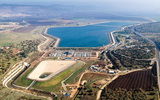 Eshkol Water Reservoir at Bet Netofa Valley In The Galilee