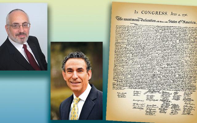 Rabbi Joseph Prouser, left, and Cantor Michael Kasper