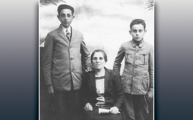 William Nussbaum, left, with his mother, Rachel, and his brother, Paul.