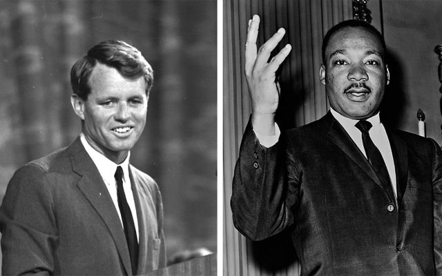 Robert F. Kennedy, left, and Martin Luther King Jr.