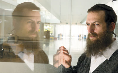 "Israeli actor Ori Pfeffer plays the protagonist, Yoel, in ""The Testament,"" screening at the Kaplen JCC on the Palisades on June 10."
