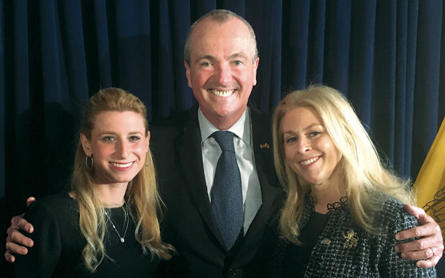Ariella Noveck, Governor Phil Murphy, and Stephanie Goldman (Courtesy JFNNJ)