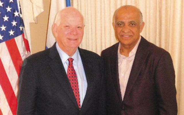 Senator Ben Cardin, left, with Dr. Munr Kazmir (Courtesy Norpac)