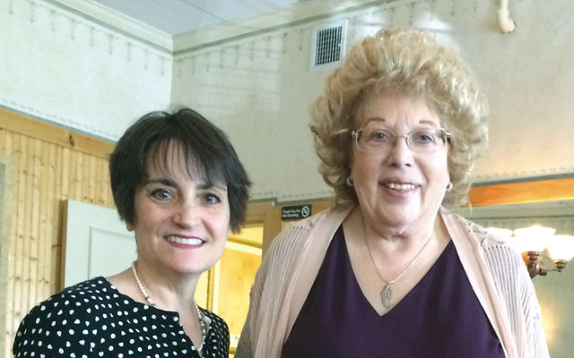 Eileen Janowsky, group president, left, and Jane Levine, vice president, at the luncheon. (Courtesy NCJW)