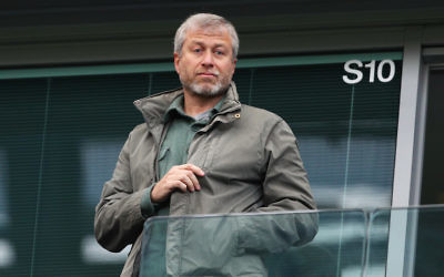 Chelsea owner Roman Abramovich watching a game at Stamford Bridge in London, April 16, 2016. (Paul Gilham/Getty Images)