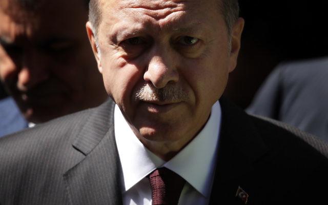 Turkish President Recep Tayyip Erdogan in London, May 14, 2018. (Dan Kitwood/Getty Images)