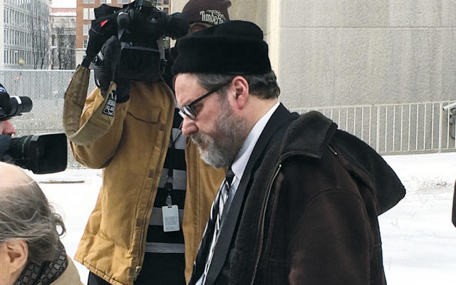 Rabbi Barry Freundel leaves the courthouse after entering his guilty plea on February 19, 2015. (Dmitriy Shapiro/Washington Jewish Week)