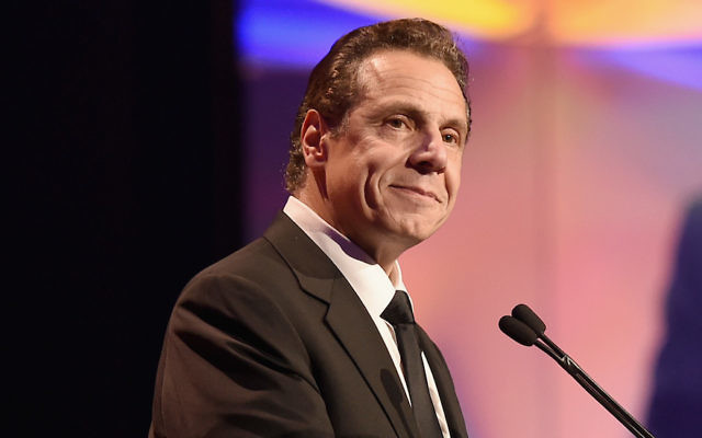 New York Gov. Andrew Cuomo speaking at Cipriani's Wall Street in New York, Nov. 28, 2017. (Nicholas Hunt/Getty Images for UNICEF )