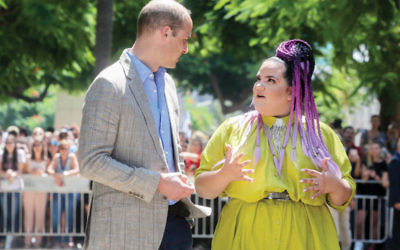 Prince William, Duke of Cambridge, and Netta Barzilai, Queen of Eurovision.
