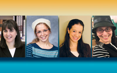 Rachel Friedman, left, Shuli Taubes, Miriam Krupka Berger, and Alisa Danon Kaplan