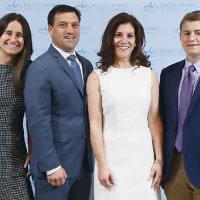 Maddy Gold, honoree, left, with her parents, Sue and Shelly Gold, and brother, Billy.