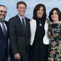 David and Jayne Petak, center, with Rabbi Dov and Hindy Drizin.