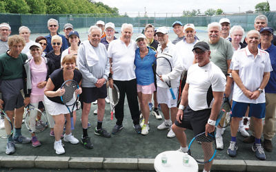 More than 30 tennis players hit the courts for a round-robin match.