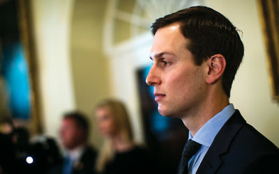 Jared Kushner listens during a Cabinet meeting at the White House on May 9, 2018. (Al Drago-Pool/Getty Images)