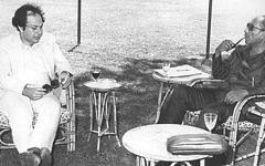 Dr. Steven Cohen meets with Anwar Sadat in Alexandria in 1978.