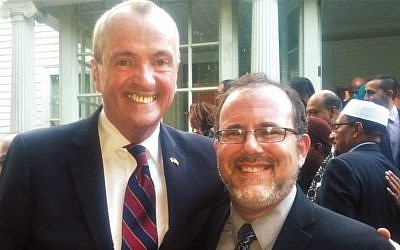 Governor Phil Murphy and Rabbi David Fine at the governor's Iftar feast in May.