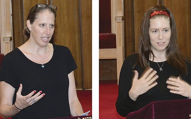 Marilyn Laves, left, and Arona Berow  (Photos by Michael Laves)