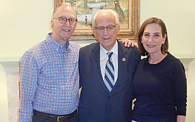 Daniel and Susan Turk flank Congressman Bill Pascrell. (Courtesy Norpac)