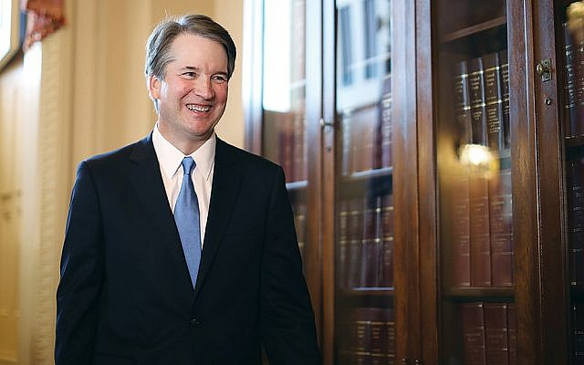 Nominee Brett Kavanaugh is at the Capitol in Washington on July 10, 2018 — the day after he was nominated to the U.S. Supreme Court. (Chip Somodevilla/Getty Images)