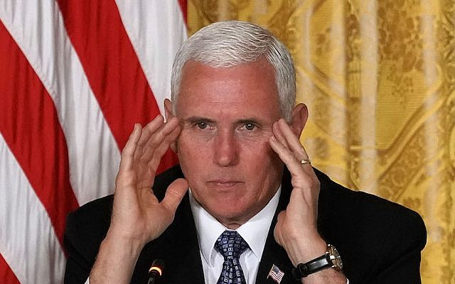 Vice President Mike Pence in the East Room of the White House, June 18, 2018. (Alex Wong/Getty Images)