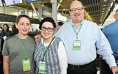 At the airport, Rabbi Kenneth, Ruchie, and Yitzchak Brander are ready to board Nefesh B'Nefesh's flight to Israel. (Nefesh B'Nefesh)