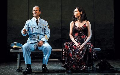 "Sasson Gabay and Katrina Lenk head the Broadway cast of ""The Band's Visit."" (Photo by Evan Zimmerman for MurphyMade (2018))"