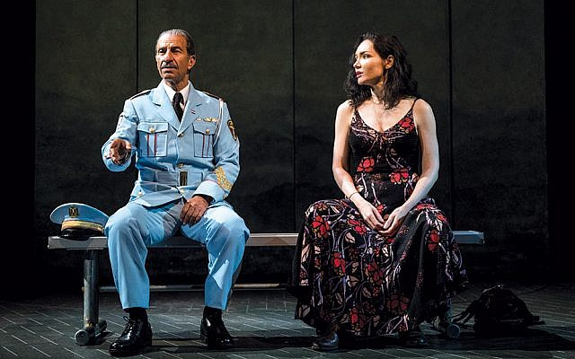 """Sasson Gabay and Katrina Lenk head the Broadway cast of """"The Band's Visit."""" (Photo by Evan Zimmerman for MurphyMade (2018))"""
