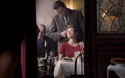 "Benoît Magimel is Pierre Rabier and Mélanie Thierry is Marguerite Duras in ""Memoir of War."" (Music Box Films)"