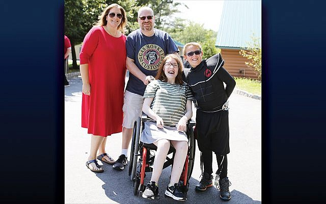 The Steiner family of Monsey, N.Y., joined more than 500 former Camp Simcha campers, counselors, and staff and their families at Alumni Day on July 29 at Camp Simcha's campus in Glen Spey, N.Y. (Courtesy Chai Lifeline)