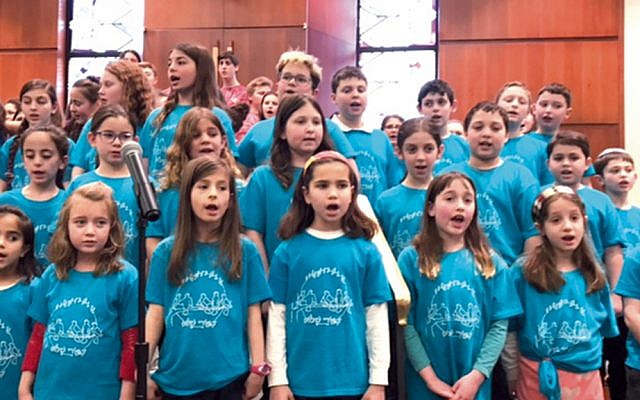 Earlier this year, children sing at the junior choir festival hosted by Congregation Beth Sholom.